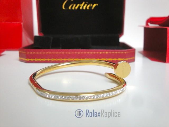 Cartier replica gioiello bracciale juste un clou oro giallo pavè diamond