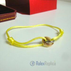 Cartier replica gioiello bracciale trinity yellow