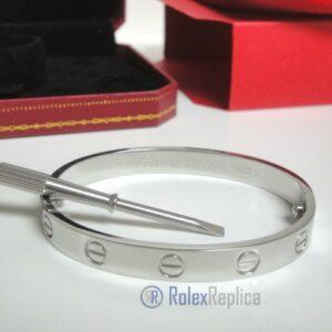 Cartier replica gioiello bracciale love oro bianco