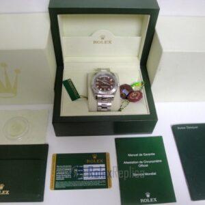 rolex replica daydate ll acciaio cherry dial oyster orologio replica copia imitazione