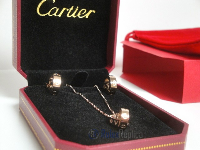 Cartier replica gioiello collier completo di orecchini love rose gold