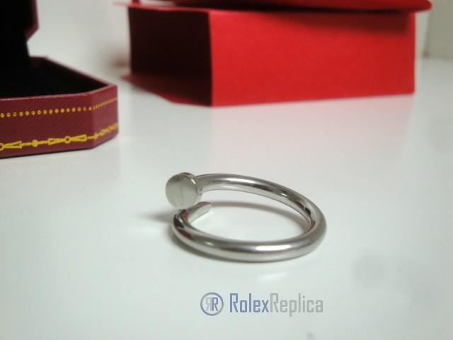 Cartier replica gioiello anello juste un clou white gold