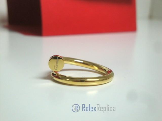 Cartier replica gioiello anello juste un clou yellow gold