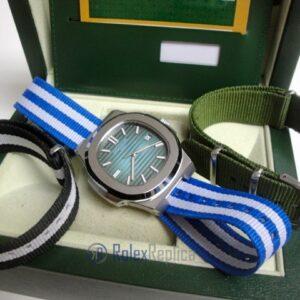 patek philippe replica nautilus blue dial cordura orologio imitazione