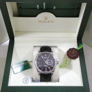 rolex replica cellini date black dial orologio replica cinturino pelle