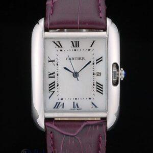 Cartier replica tank americaine acciaio strip leather cherry orologio imitazione perfetta