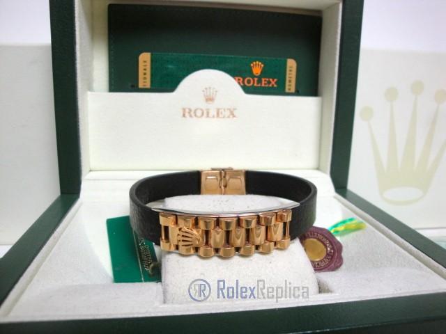 Rolex replica gioielli bracciale jubilèè-style oro giallo-pelle black