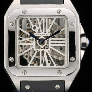 Cartier replica santos skeletron acciaio strip leather orologio imitazione perfetta