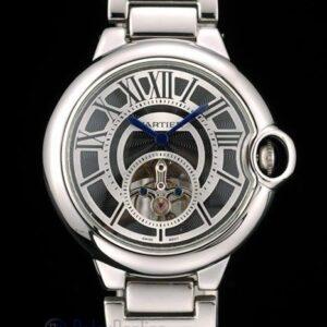 Cartier replica ballon bleu acciaio tourbillon black dial orologio imitazione perfetta