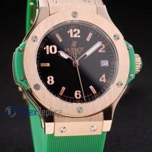 hublot replica big bang rose gold black dial green orologio copia