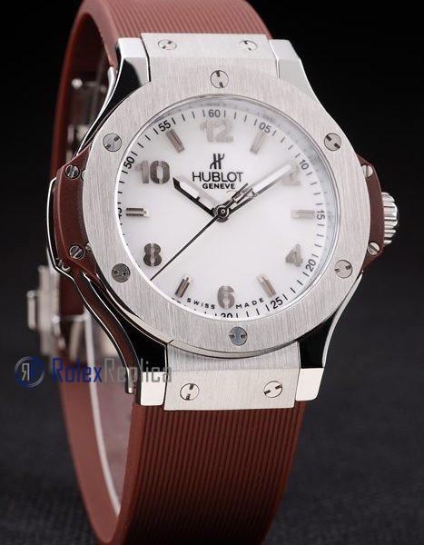 hublot replica big bang titanium white dial brown orologio copia