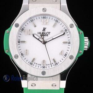 hublot replica big bang titanium white dial green orologio copia