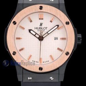 hublot replica big bang vendome rose gold white dial orologio copia
