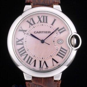 Cartier replica ballon bleu acciaio madreperla strip leather orologio imitazione perfetta