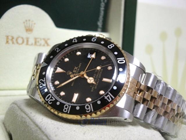 Rolex replica GMT Master II vintage acciaio oro jubilèè black dial orologio replica