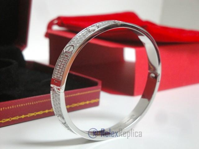 Cartier replica gioiello bracciale love white gold pavè diamond