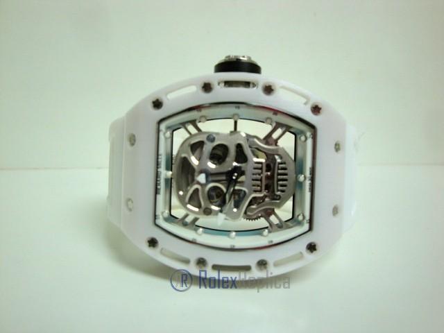 richard mille replica skull nano ceramic RM052 skeletron white edition strip rubber-b