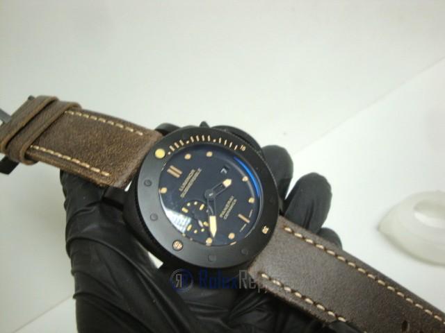 Panerai replica luminor marina submersible ceramica strip leather imitazione copia