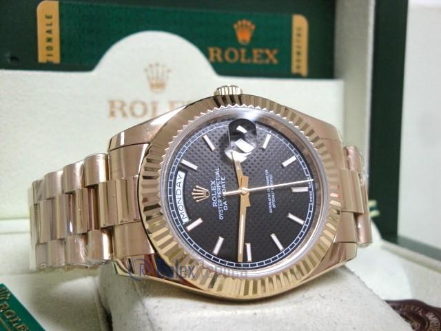 rolex replica daydate ll oro giallo black dial president orologio replica copia imitazione