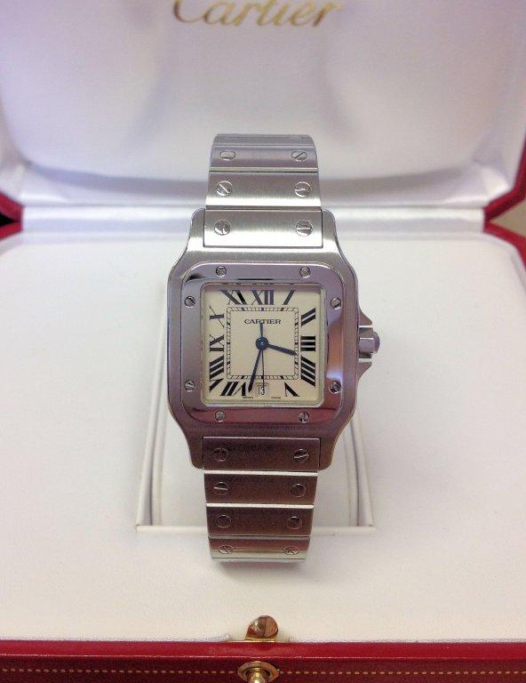 Cartier replica Santos Galbee acciaio W20060D6 Ladies 29mm white dial