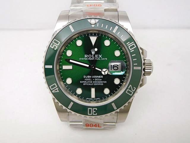 rolex replica submariner 116610LV verde hulk orologio 3135 clone movement