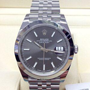 Rolex replica Datejust 41 126300 Rhodium Dial clone movement