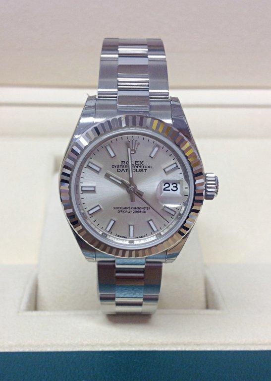 rolex replica datejust lady 279174 28mm argentèè dial oyster bracelet