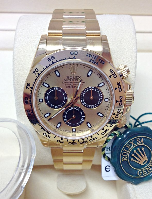 Rolex replica Daytona 116508 Yellow Gold orologio replica