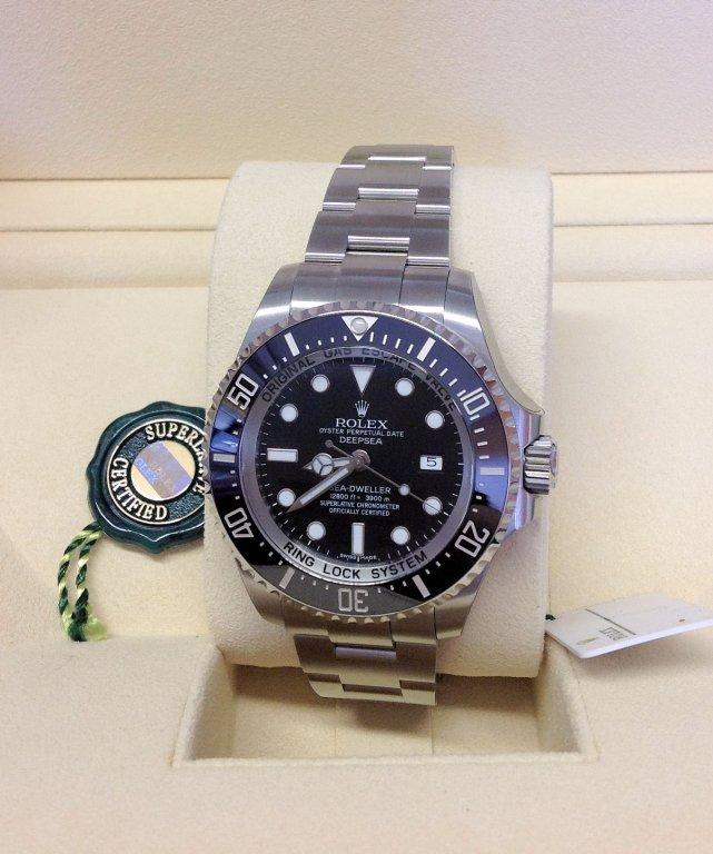 Rolex replica Deepsea Sea-Dweller 116660 black dial 3135 clone movement