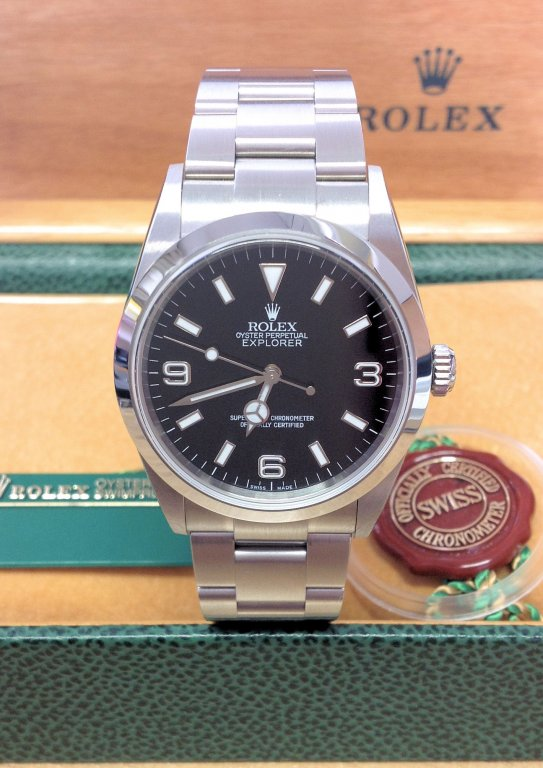 Rolex replica Explorer I 114270 36mm Black Dial