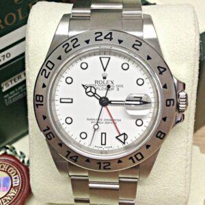 Rolex replica explorer II classic 16570 40mm white dial