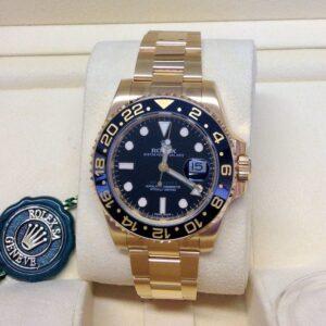 rolex replica GMT master II oro black dial ceramica orologio replica