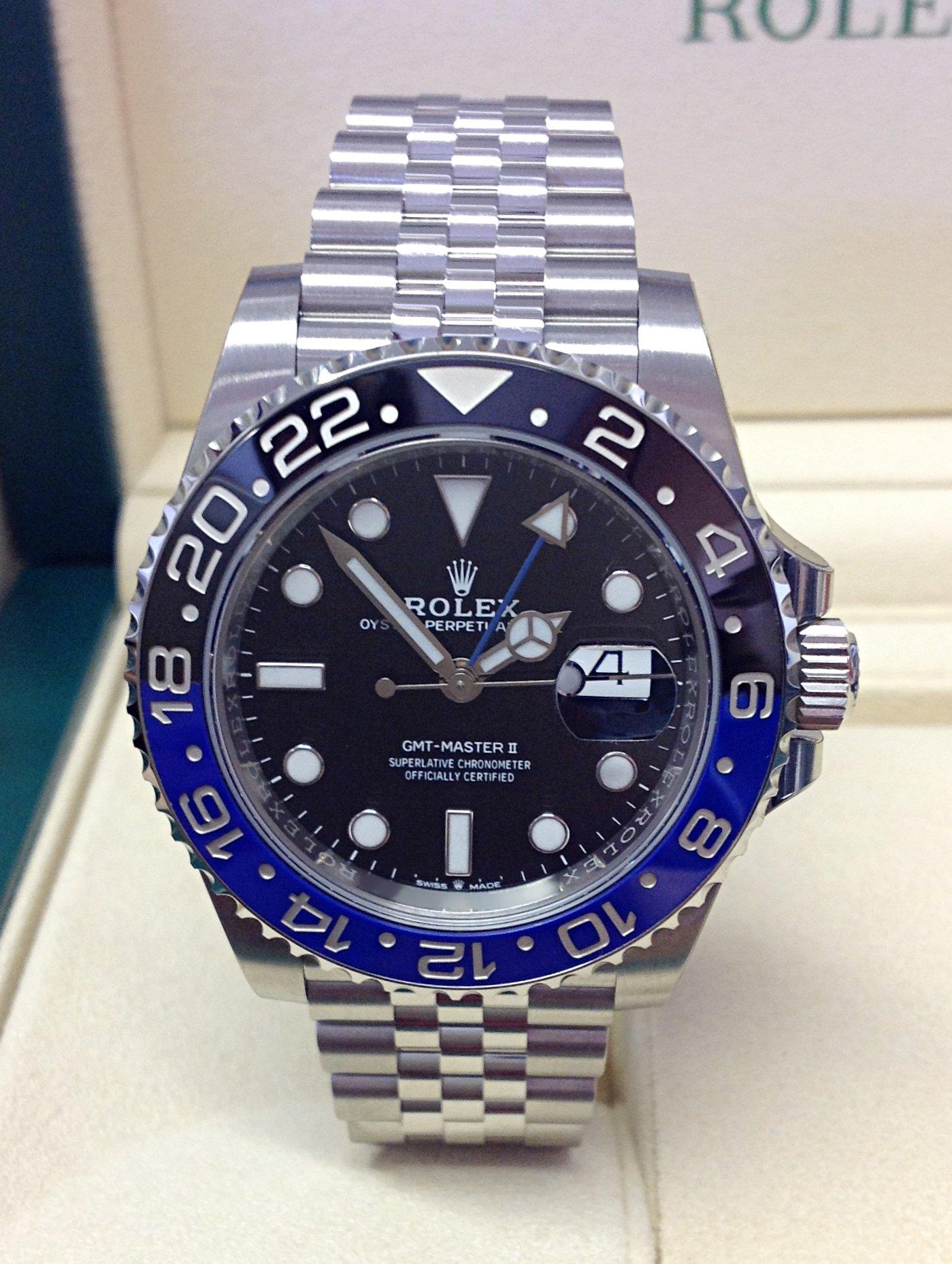 Rolex replica GMT Master II 126710BLNR Batman 3285 clone movement