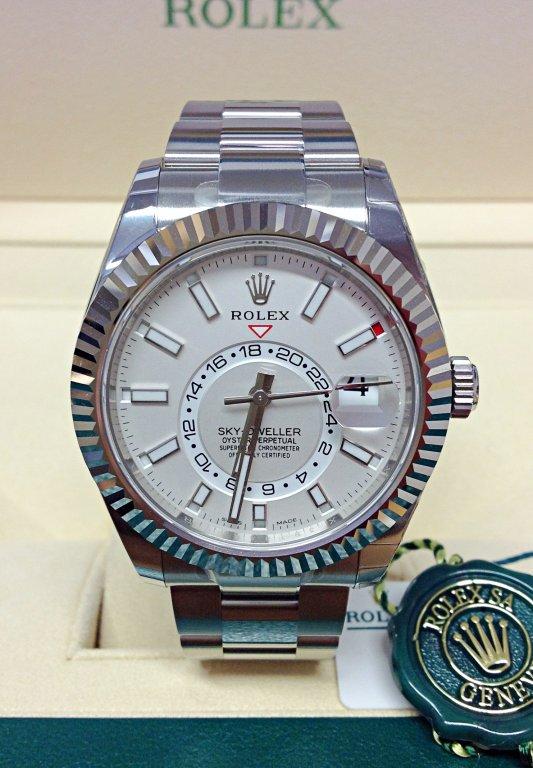 rolex replica sky-dweller 326934 stainless steel orologio replica copia