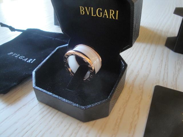 Bulgari replica B.Zero1 gioiello anello ciondolo oro rosa white ceramichon