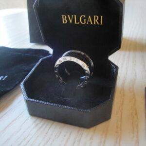 Bulgari replica B.Zero1 gioiello anello ciondolo oro bianco black ceramichon