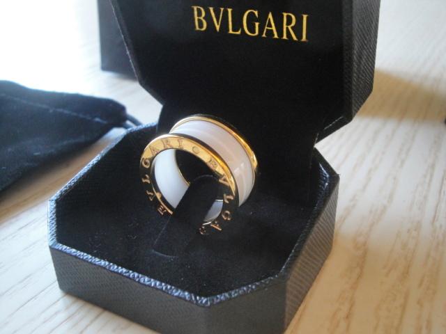 Bulgari replica B.Zero1 gioiello anello ciondolo yellow gold ceramichon white