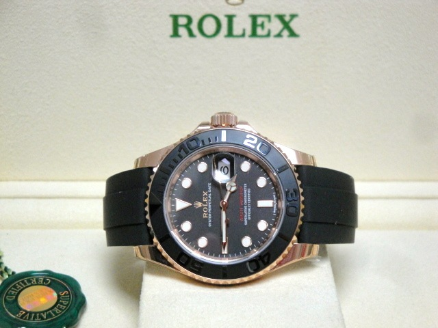 rolex replica yacht master I 116655 oysterflex clone movement 3135
